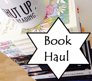book haul graphic