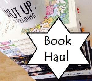 book haul graphic
