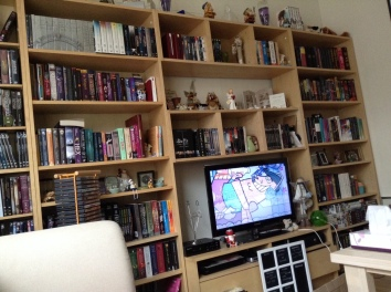 My bookshelves at the end of 2014