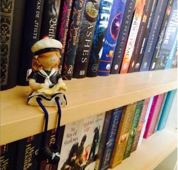 girl and shelf