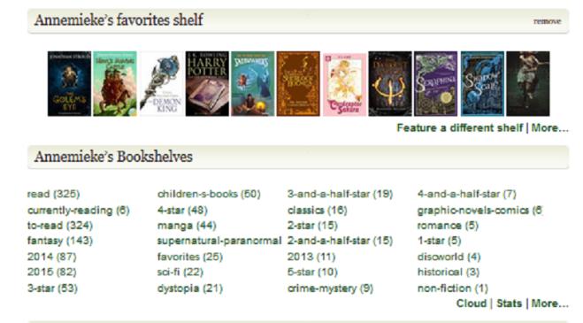 goodreads shelves