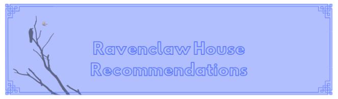 ravenclaw house recs