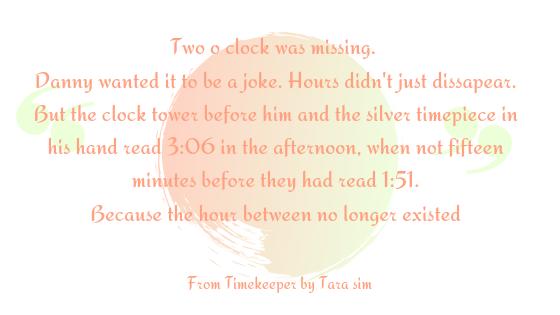 Timekeeper opening line